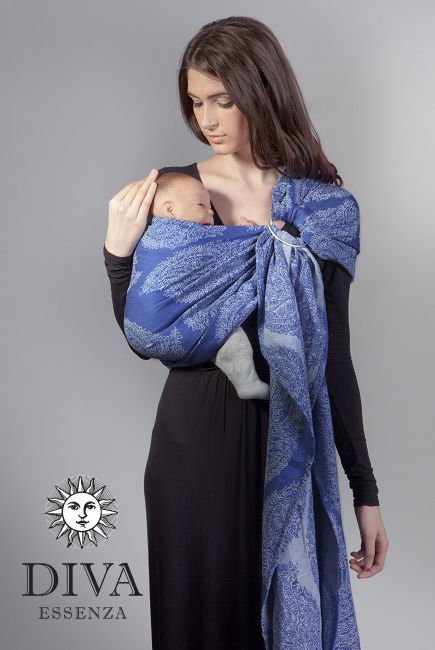 Diva Essenza 100% cotton: Azzurro Ring Sling