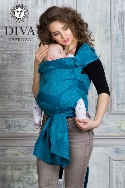 Diva Essenza Mei Tai 100% cotton: Ceruleo