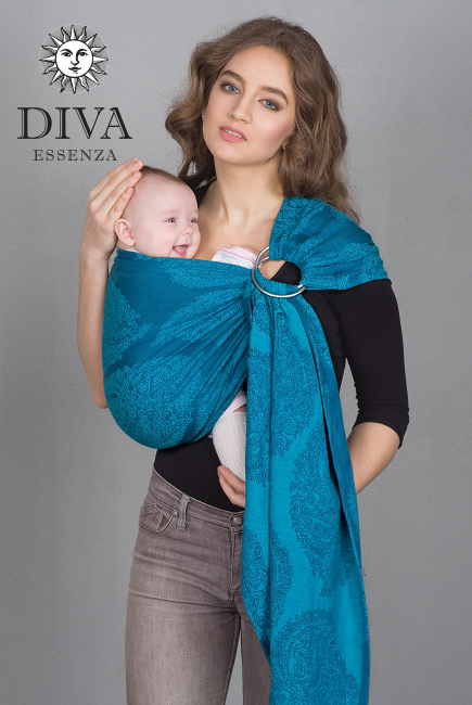 Diva Essenza 100% cotton: Ceruleo Ring Sling