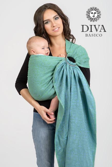 Diva Basico 100% cotton: Lime Ring Sling