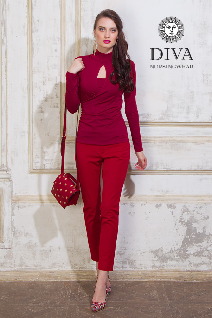 Nursing Top Diva Nursingwear Maura, Berry