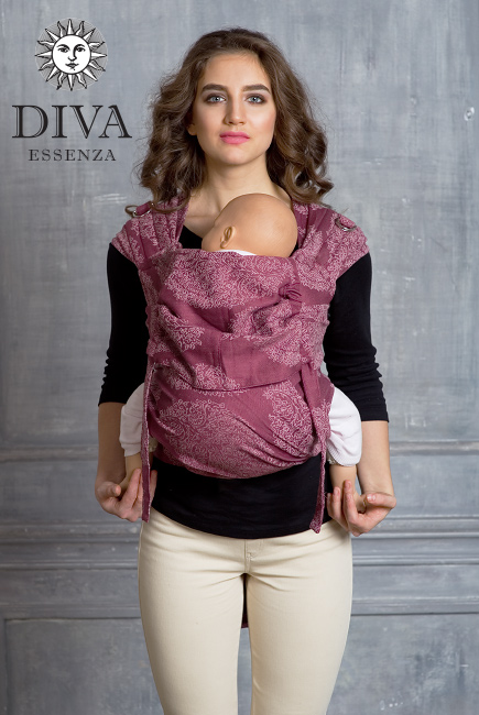 Diva Toddler Mei Tai 100% cotton: Berry