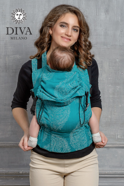 Diva Essenza Wrap Conversion Buckle Carrier: Smeraldo