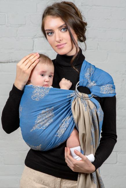 Diva Basico 100% cotton: Azzurro Ring Sling