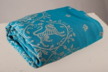 Barocco Lions 100% cotton: Turchese