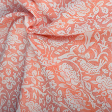 Rose with Linen: Arancio Ring Sling