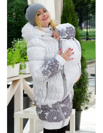 Babywearing Coat 3 in 1 (high-warm), Bianco
