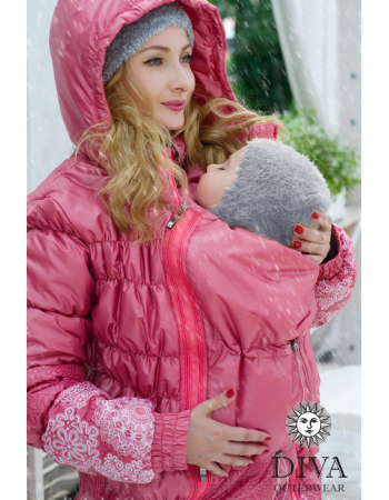 Babywearing Coat 3 in 1 (high-warm), Corallo