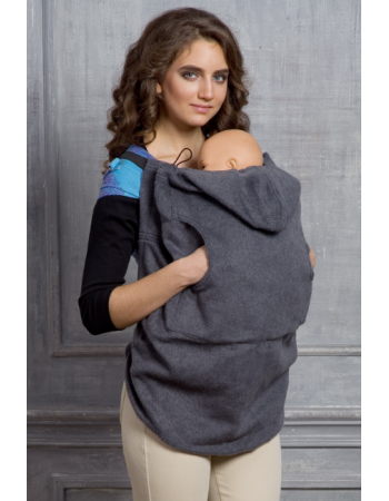 Wool Babywearing Cover, Antracite