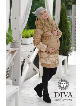 Babywearing Coat 3 in 1, Moka