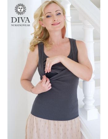 Nursing Top Diva Nursingwear Eva, Grafite