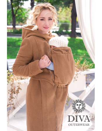 Babywearing Wool Winter Coat, Camello