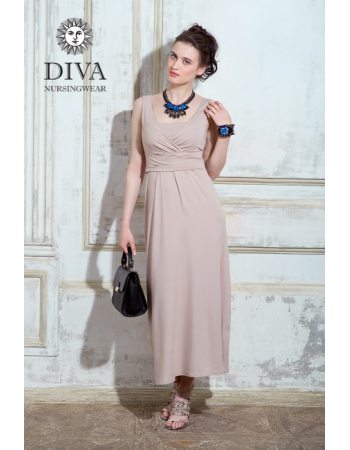Nursing Dress Diva Nursingwear Alba, Grano