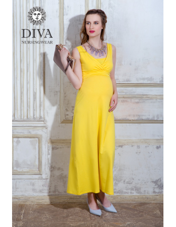 Nursing Dress Diva Nursingwear Alba, Limone