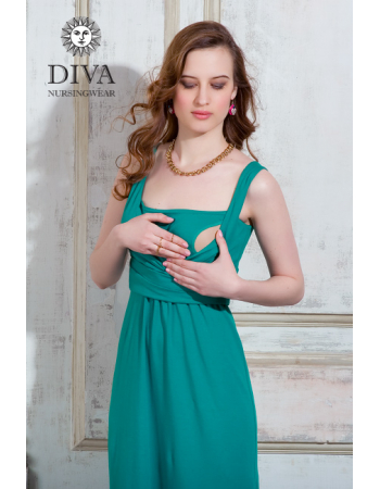 Nursing Dress Diva Nursingwear Alba, Smeraldo