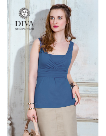 Nursing Top Diva Nursingwear Alba Sleeveless, Notte