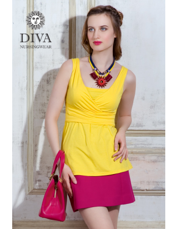 Nursing Top Diva Nursingwear Alba Sleeveless, Limone