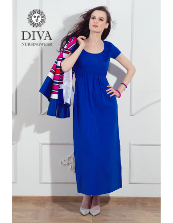 Nursing Dress Diva Nursingwear Dalia, Azzurro