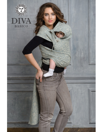 Diva Basico Mei Tai 100% cotton with a hood: Damasco