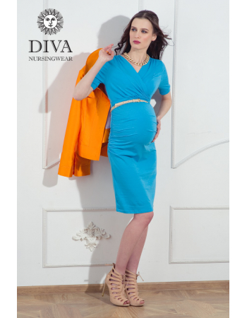 Nursing Dress Diva Nursingwear Lucia, Celeste