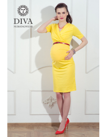 Nursing Dress Diva Nursingwear Lucia, Limone