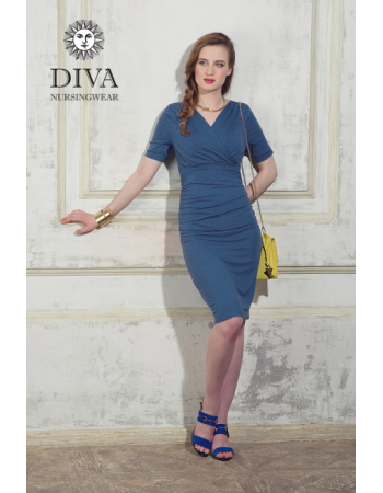Nursing Dress Diva Nursingwear Lucia Short Sleeved, Notte