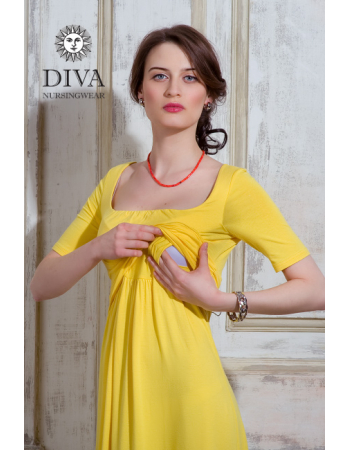 Nursing Dress Diva Nursingwear Stella, Limone