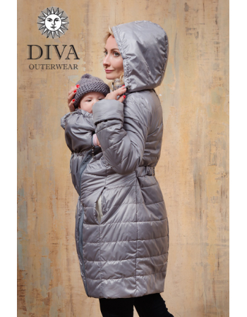 Babywearing Winter Coat 4 in 1 with a Back-Carry Option, Pietra
