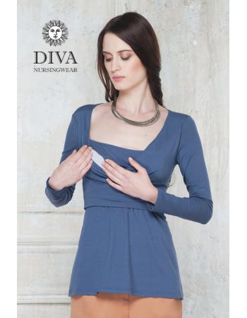 Nursing Top Diva Nursingwear Alba Long Sleeved, Notte