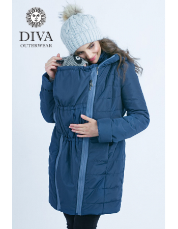 Babywearing Winter Coat 4 in 1 with a Back-Carry Option, MareBabywearing Coat 4 in 1 with a Back-Carry Option (high-warm), Azzurro