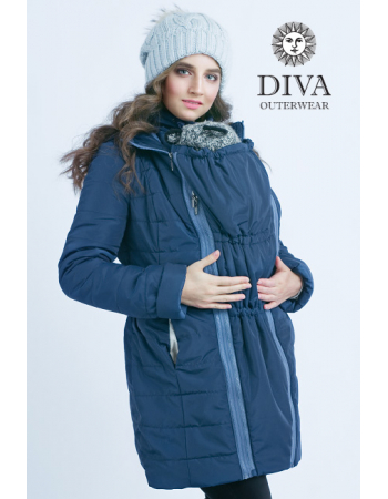 Babywearing Winter Coat 4 in 1 with a Back-Carry Option, AzzurroBabywearing Coat 4 in 1 with a Back-Carry Option (high-warm), Azzurro