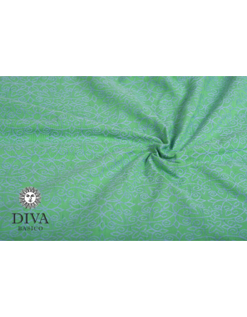 Diva Basico Mei Tai 100% cotton with a hood: Lime