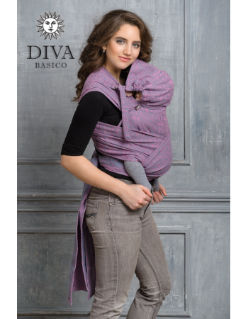 Diva Basico Mei Tai 100% cotton with a hood: Perla