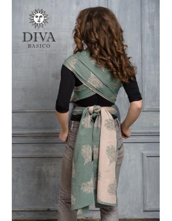 Diva Basico Mei Tai 100% cotton with a hood: Pino