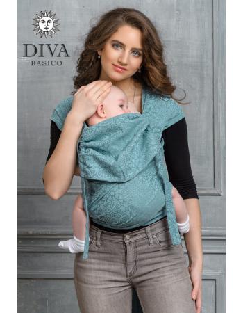 Diva Basico Mei Tai 100% cotton with a hood: Aprile