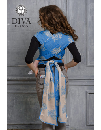 Diva Basico Mei Tai 100% cotton with a hood: Azzurro