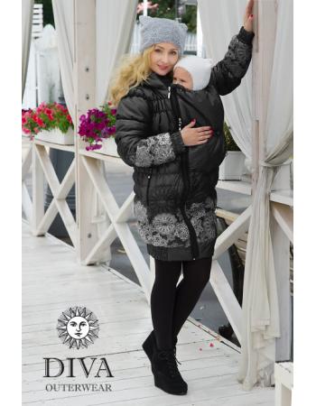 Babywearing Winter Coat 3 in 1, Nero
