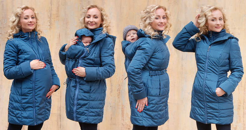 622bba776 Babywearing Winter Coat 4 in 1 with a Back-Carry Option