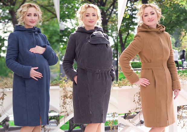 41602d7f2a76 Babywearing Wool Coat 3 in 1  babywearing and maternity winter coat