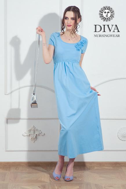 Nursing Dress Diva Nursingwear Dalia, Celeste
