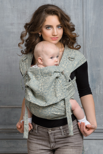 Diva Basico Mei Tai 100% cotton with a hood: Damasco