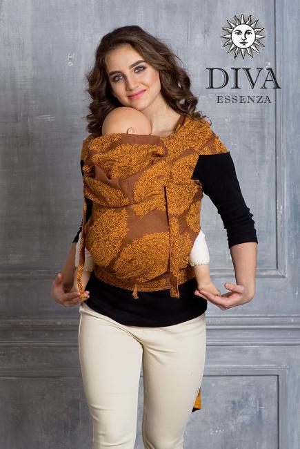 Diva Toddler Mei Tai 100% cotton: Terracotta
