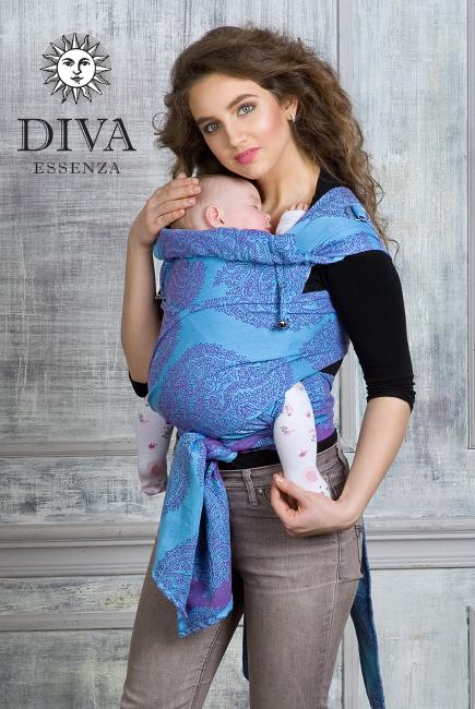 Diva Essenza Mei Tai 100% cotton: Celeste