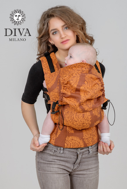 Diva Essenza Wrap Conversion Buckle Carrier: Terracotta