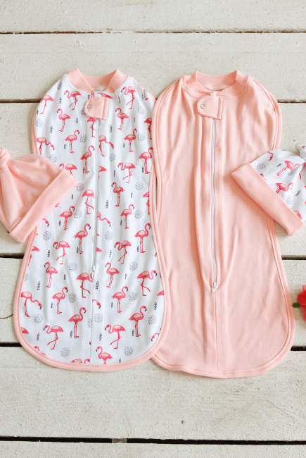 Swaddle Pods Set, Flamingo