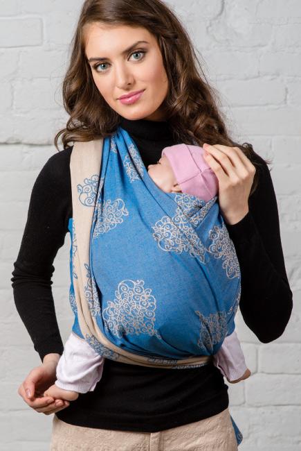 Diva Basico Woven Wrap 100% cotton: Azzurro