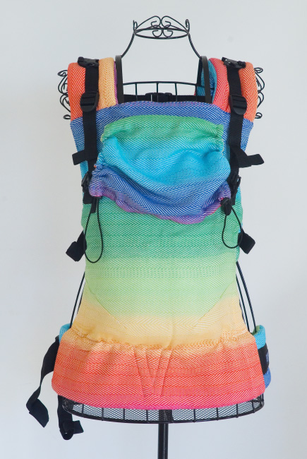 Diva Didymos LE Wrap Conversion Buckle Carrier: Lisca Rainbow