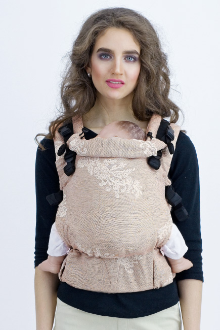 Diva Milano LE Wrap Conversion Buckle Carrier: Reticella Miele Linen
