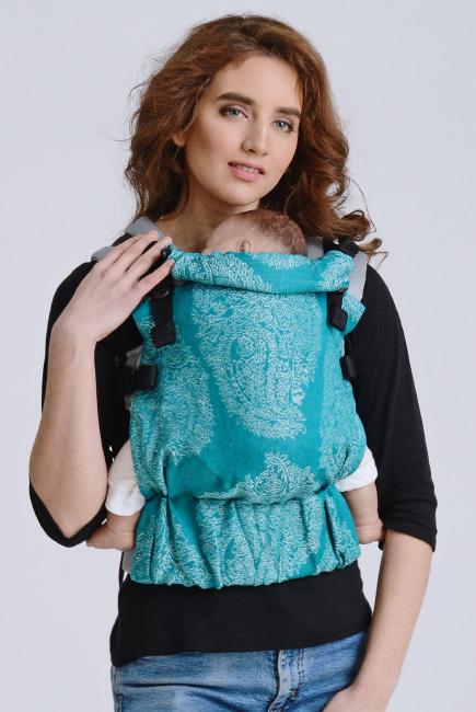 Diva Half Wrap Conversion Buckle Carrier: Smeraldo Linen, The One!