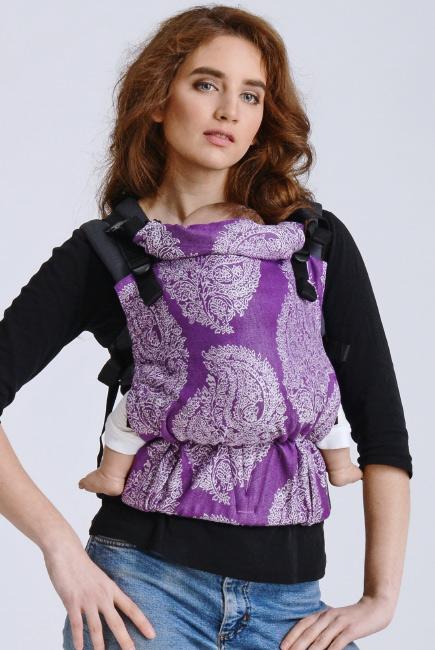Diva Half Wrap Conversion Buckle Carrier: Viola Linen, The One!